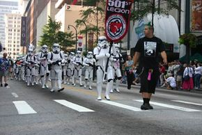 The 501st Legion takes part in the traffic-stopping Dragon Con parade. See more Dragon Con parade pictures.