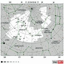 The constellation Draco.