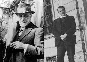 Sigmund Freud (left) and Carl Jung