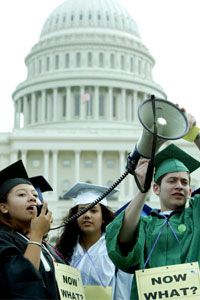 Immigrant students rally in Washington, D.C., for the passage of the DREAM Act.