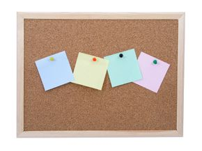 Embellishing the frame of this corkboard could take it from plain to pretty.