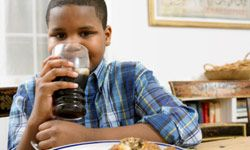 Gulping down soft drinks can start your kid on the habit of opting against more healthful drink choices.