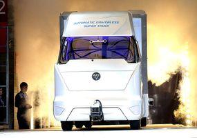 foton motor autonomous truck on stage