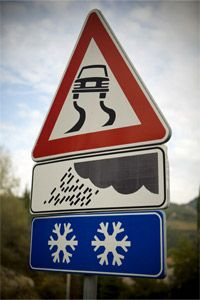 If you see a sign like this, you may want to slow down, preferably not by slamming on your brakes.