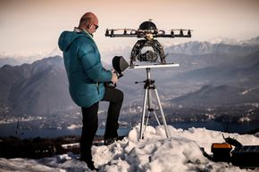 What role can drones play in rescuing people lost in the wilderness?