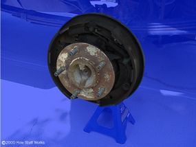 Figure 3. Drum brake without drum in place