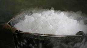 Dry Ice Pellets in Bucket