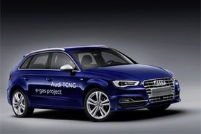 The A3 Sportback TCNG, which will run on e-gas. Want to learn more? Check out these alternative fuel vehicles.