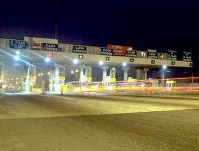 Toll plazas like this one are familiar sites to millions of drivers.