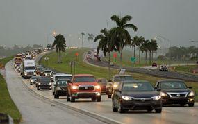 hurricane harvey traffic evacuating florida keys