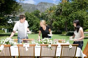 Leave the last minute items, like setting the table, chilling the wine and final food prep for the day of the party.