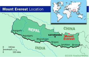 Mount Everest straddles the border between Nepal and Tibet (which is ruled by China) and so depends on efforts by both governments for cleanup and conservation.