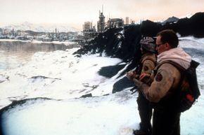 """Peter Weller overlooks more robot-haunted ruins in the 1995 film """"Screamers."""""""