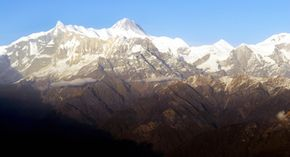 Mountain ranges, like the Himalayas in Asia, are more than vast enough to foster allopatric speciation.
