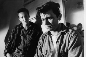 """Scott Wilson and Robert Blake (R) in a scene from the 1967 film """"In Cold Blood."""" Latham and York were mentioned in Truman Capote's book which inspired the film."""