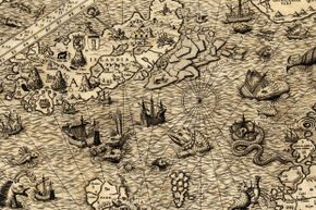 A few hunded years ago, map makers' drawings of sea beasts weren't that far off from the real -- and extinct -- creatures that once swam the oceans.
