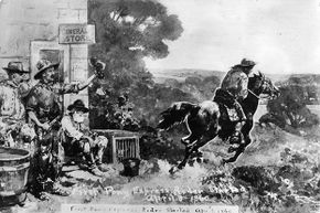 Pony Express riders braved bad weather, bandits and wild animals as they raced to deliver the mail on horseback.