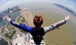 With a free-fall of between 4 and 5 seconds, the Macau Tower in China is the longest bungee jump in the world.