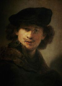 The Dutch artist Rembrandt van Rijn (above) was a master of recreating light and shadow. He was also pretty good at making the eyes of his subjects follow you.