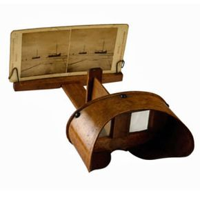 The stereoscope -- the first version of 3-D imagery -- used two images of the same object from slightly different vantage points.