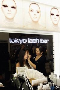 Getting glamorous at the opening of Tokyo Lash Bar in Sydney, Australia