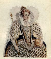 Queen Elizabeth I, depicted here on the occasion of the Spanish Armada's defeat in 1588, chartered the East India Company 12 years later.