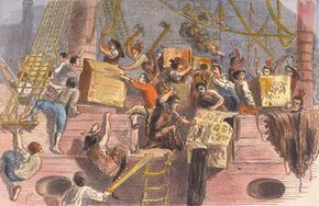 A depiction of the Boston Tea Party, a result of the Tea Act which favored the East India Company and punished competitors.