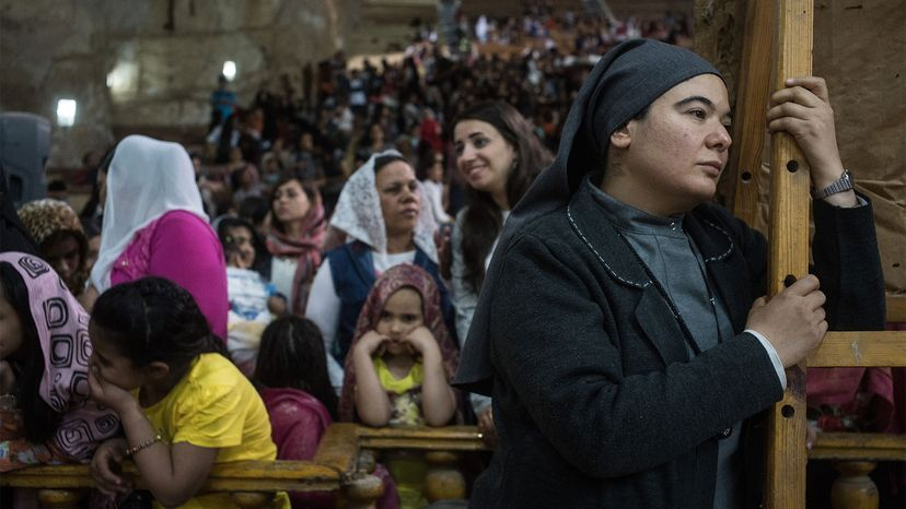 Easter Eve mass, Cairo