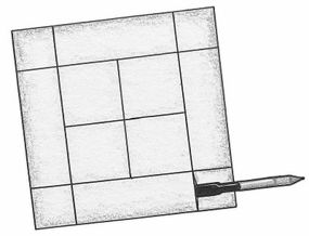 Make lines on the foam board to lay the grid.
