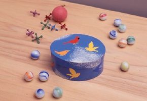 Your children's valuables will remain protected in this fly away decoupage box.