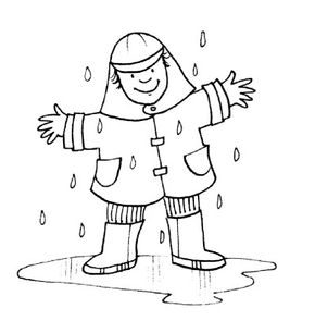 Don't be afraid to get wet during a downpour.