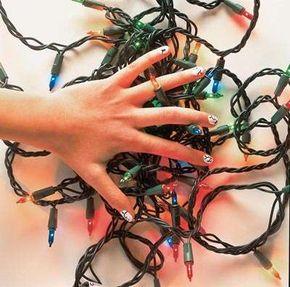 Make the lighten up nail art.