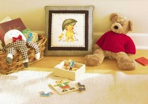 The Teddy Bear Pillow is an easy stencil project.