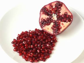 Your diet can help your skin, too -- pomegranate is one of many foods that can benefit the skin.