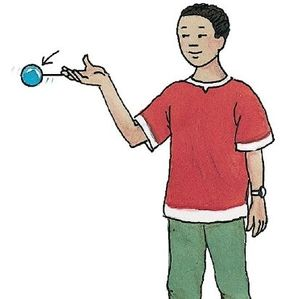 Bend your elbow, then swing it down sharply and let the yo-yo fly.