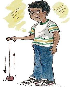 Hold the yo-yo palm side down and let it unroll. Just as the yo-yo finishes unwinding, give it a firm upward jerk.