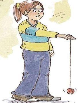 Whip the yo-yo sharply toward the ground