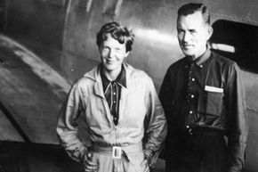 Amelia Earhart and navigator Fred Noonan in a photo taken just prior to the infamous final flight.