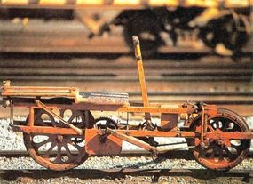 """Manufactured around 1890, this Southern Pacific """"Velocipede,"""" a type of handcar, was still in use as late as the 1940s."""