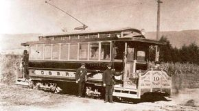 Oakland and Berkeley Rapid Transit Company, the first electric line in the East San Francisco Bay area, began business in the 1890s. Back then, car No. 10 had a largely rural run between the two communities.