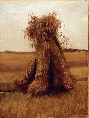 Vincent van Gogh's Sheaves of Wheat is an oil on canvas (15-3/4 x 11-3/4 inches) housed in the Kröller-Müller Museum, in Otterlo, Netherlands.