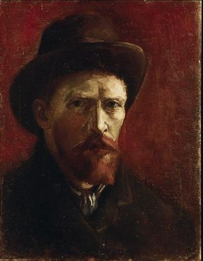 Vincent van Gogh's Self-Portrait with Dark Felt Hat is an oil on canvas (16-1/4 x 12-3/4 inches) housed in the Van Gogh Museum in Amsterdam.