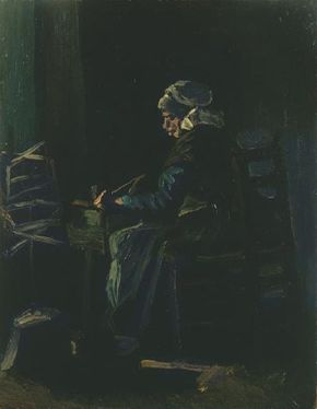 Vincent van Gogh's Woman Winding Yarn is an oil on canvas (16-1/4x12-3/4 inches) housed in the Van Gogh Museum in Amsterdam.