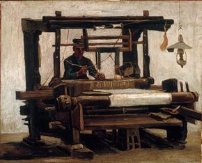 Vincent van Gogh's The Loom is an oil on canvas (27-1/2x33-1/2 inches) housed in the Kröller-Müller Museum in Otterlo, Netherlands.