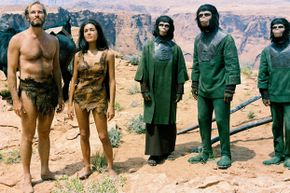 """Much of """"Planets of the Apes"""" was filmed in the desert-like area of Page, Ariz., and in Red Rock Canyon State Park, Calif. Otherworldly indeed. See more movie-making pictures."""