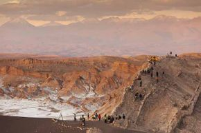 Rain has never been recorded  falling in the Atacama Desert, Chile. Yet 1 million people live there.