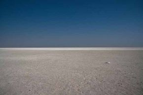 The Etosha Pan is the largest salt pan in Africa and is even visible from space.