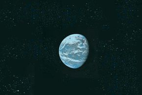 Measuring Earth's weight is derived from the gravitational attraction that the Earth has for objects near it. See more space exploration pictures.