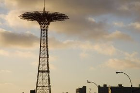 Shock absorbers aren't just for cars. If you were going on Coney Island's Parachute Jump back in the day, you would have been glad to see the shock absorbers resting at the bottom, ready to soften your landing.