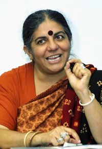 Indian ecofeminist Dr. Vandana Shiva has devoted her life to ending the industrial exploitation of Asia, South America and Africa.